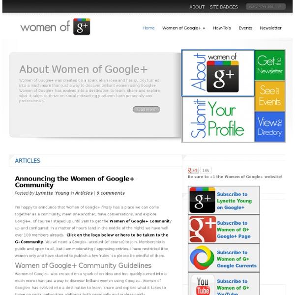 Women of Google+