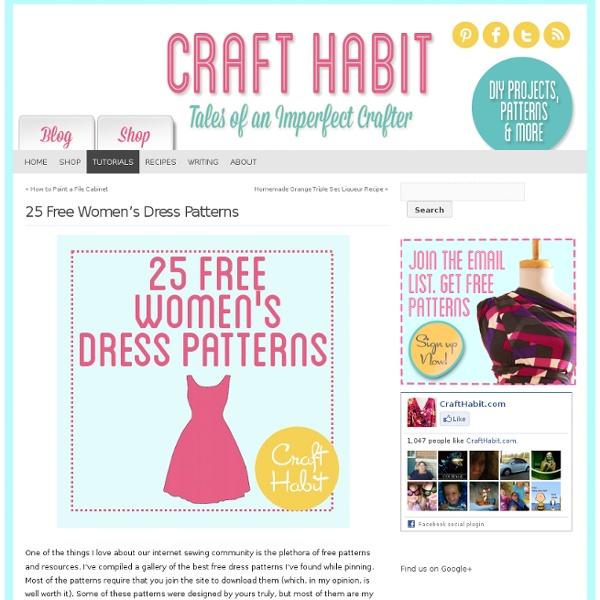 Patterns Dress 25 femmes gratuite: CraftHabit.com