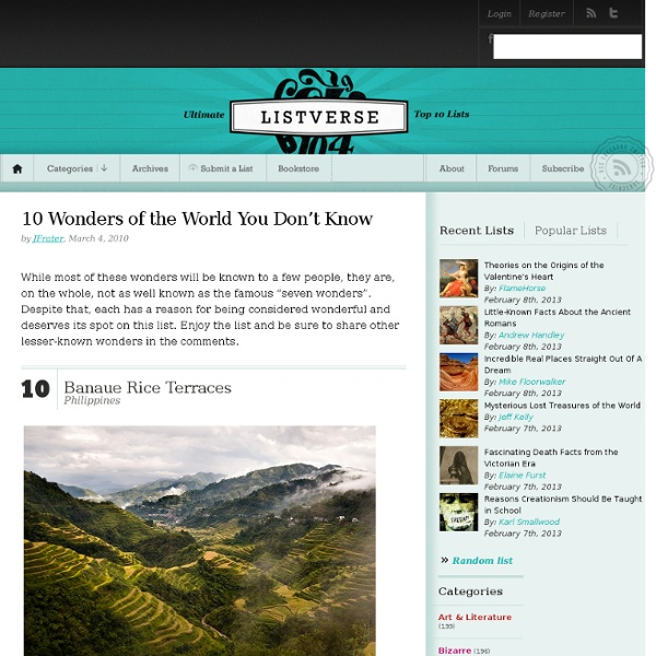 10 Wonders of the World You Don't Know
