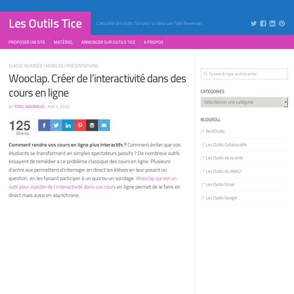 Wooclap. Créer de l'interactivité dans des cours en ligne