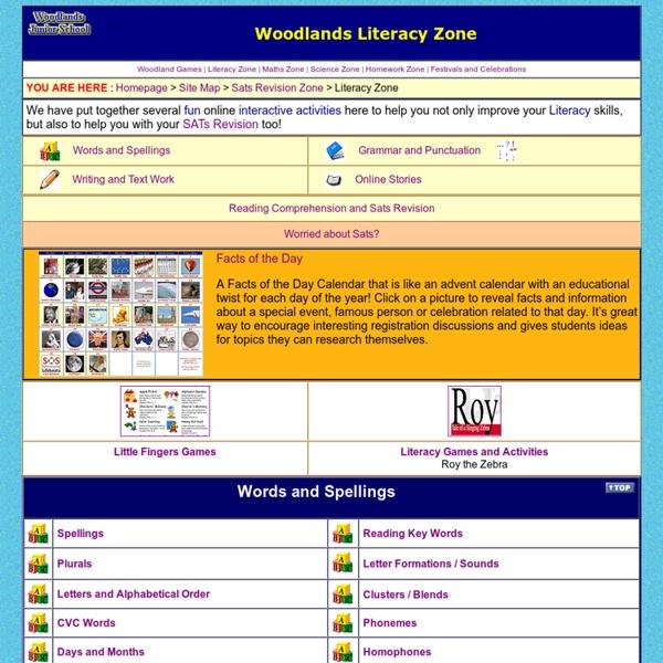 Woodlands Literacy Zone - Interactive Literacy Games -