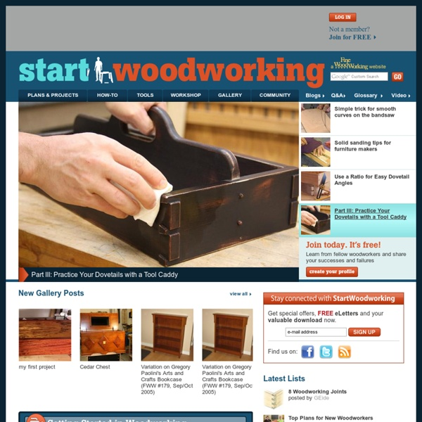 Easy Woodworking plans and projects, how-to videos, shops, magazine and books for woodworking beginners