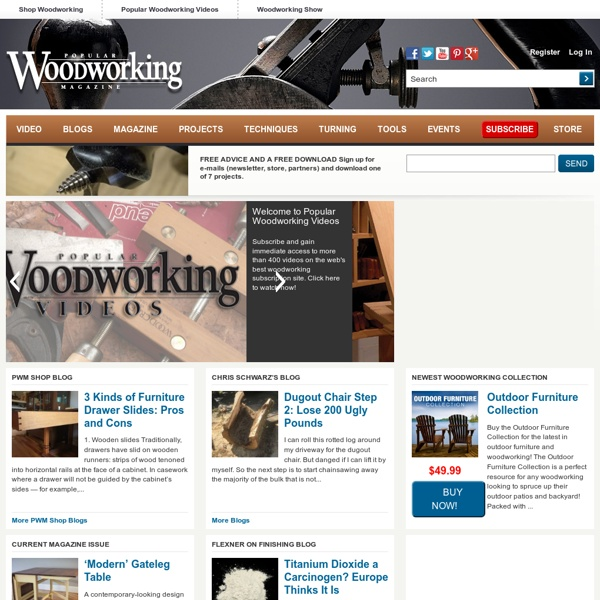 Woodworking Projects, Plans, Techniques, Tools, Supplies