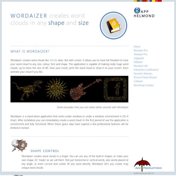 Wordaizer - word cloud with a twist