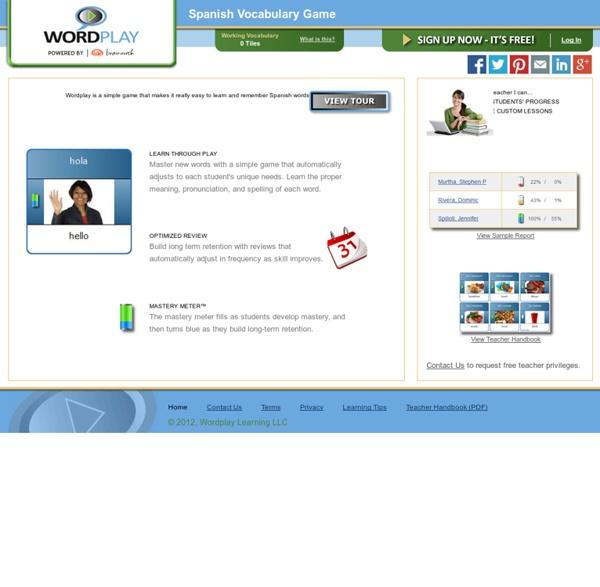 Wordplay - Spanish Vocabulary Game
