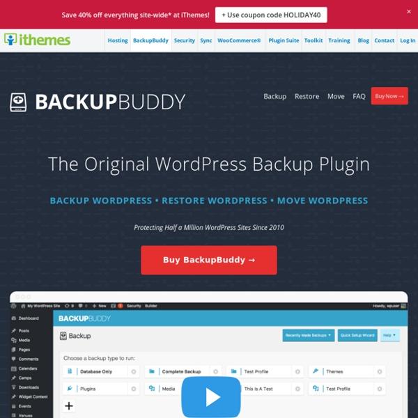 BackupBuddy - WordPress Backup Plugin to Restore & Move WordPress