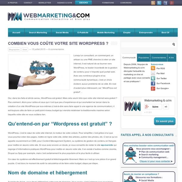 Créer un site Wordpress: quel budget?