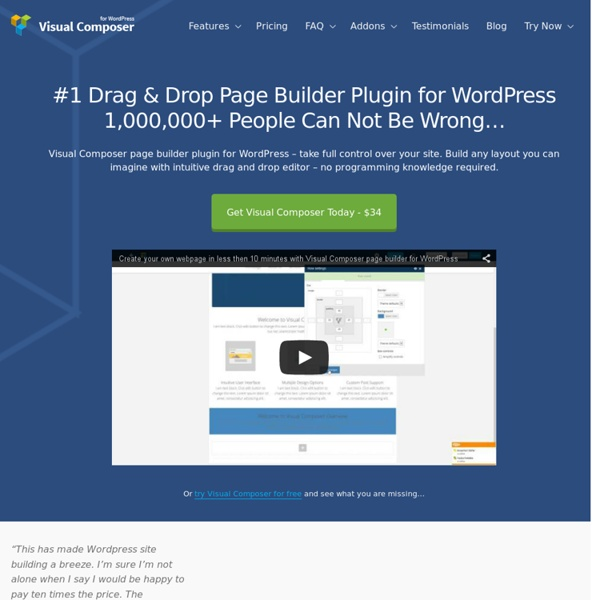 #1 Drag and Drop Page Builder Plugin for WordPress