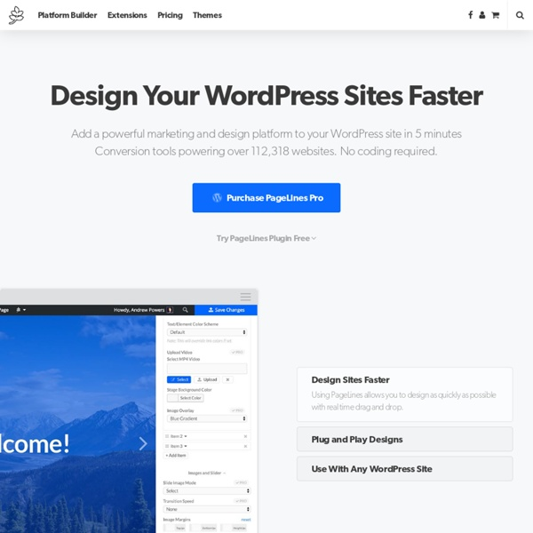 PageLines - WordPress Tools for Web Professionals