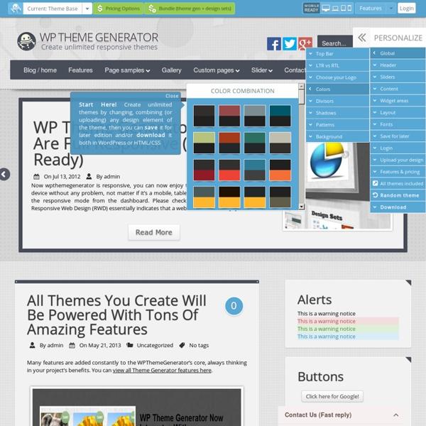 WordPress Theme Generator « Create unlimited wordpress themes with ...