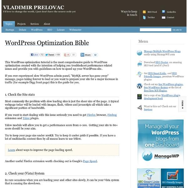 WordPress Optimization GuideWordPress Optimization Guide - Pearltrees - 웹