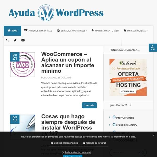 Ayuda WordPress en Espaol - Tutoriales, Themes, Trucos, Traducciones, Plugins y Actualidad