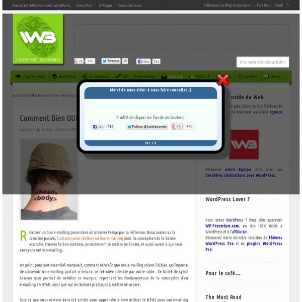 Inside Da Web Blog eCommerce, Référencement, eMailing & Cie