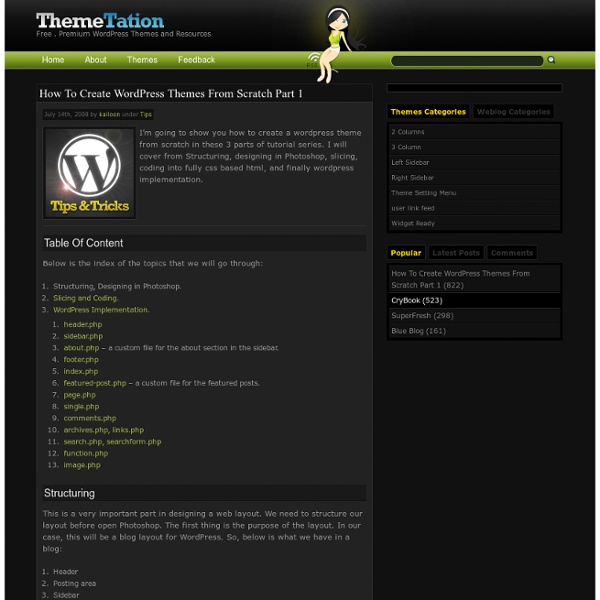 How to create wordpress themes from scratch part 1 for Making wordpress templates