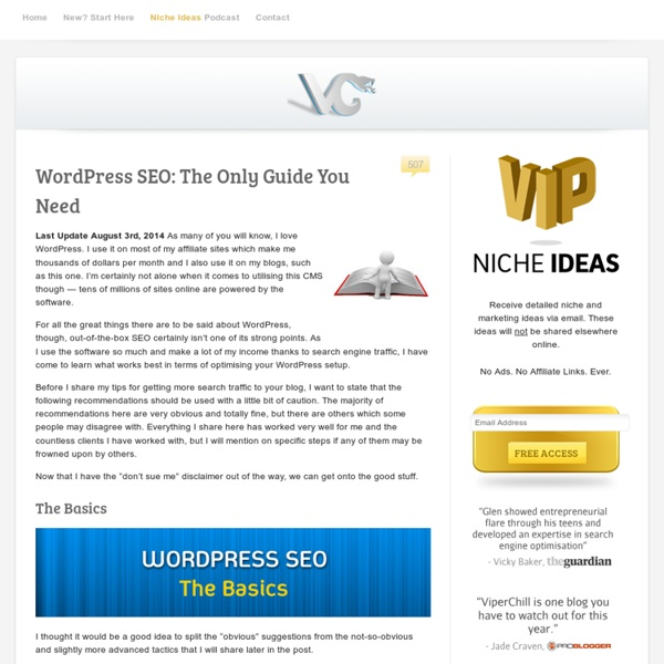 WordPress SEO: The Only Guide You Need
