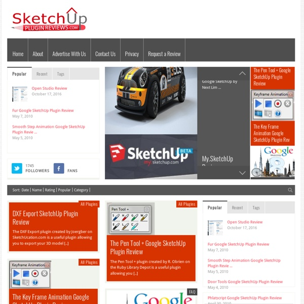 Sketchup Plugin Reviews