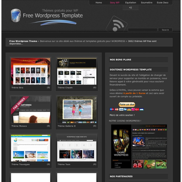 Free Wordpress Template - Theme gratuit WP