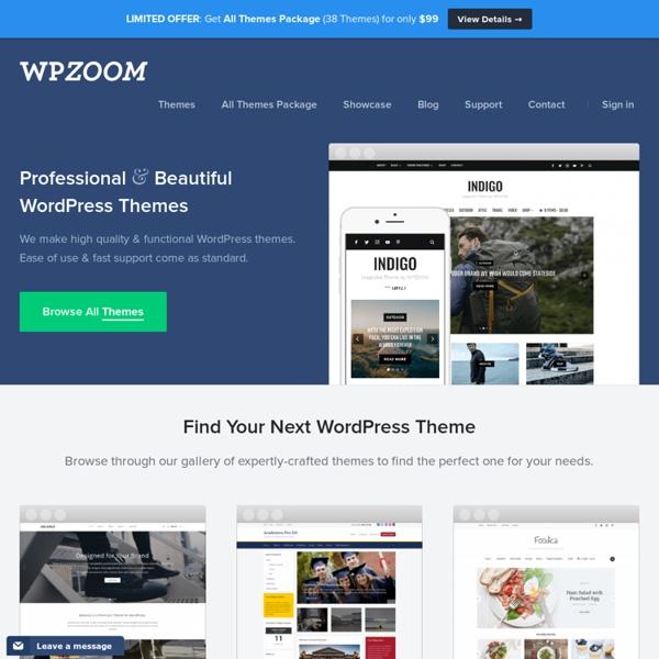 WPZOOM — Premium WordPress Themes, Best WordPress Themes