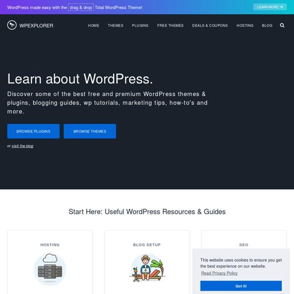 Premium WordPress Themes, Plugins, Tips & Tutorials - WPExplorer