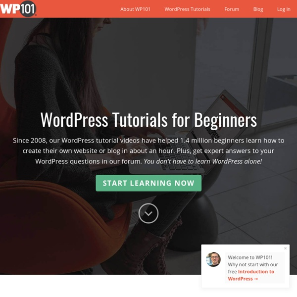 WP101 WordPress Tutorial Videos - The fastest way to learn WordPress!