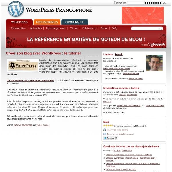Créer son blog avec WordPress : le tutoriel