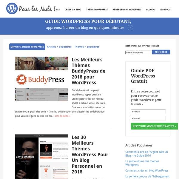 Ressources Wordpress pour Débutants & Avancés