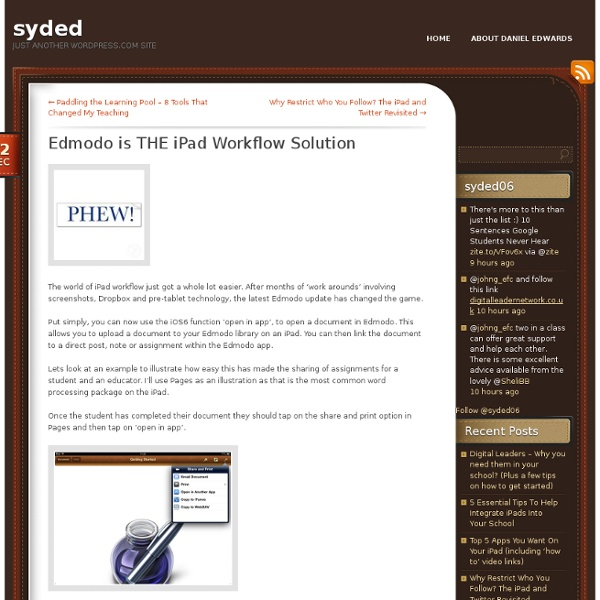 Edmodo is THE iPad Workflow Solution