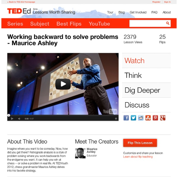 Working backward