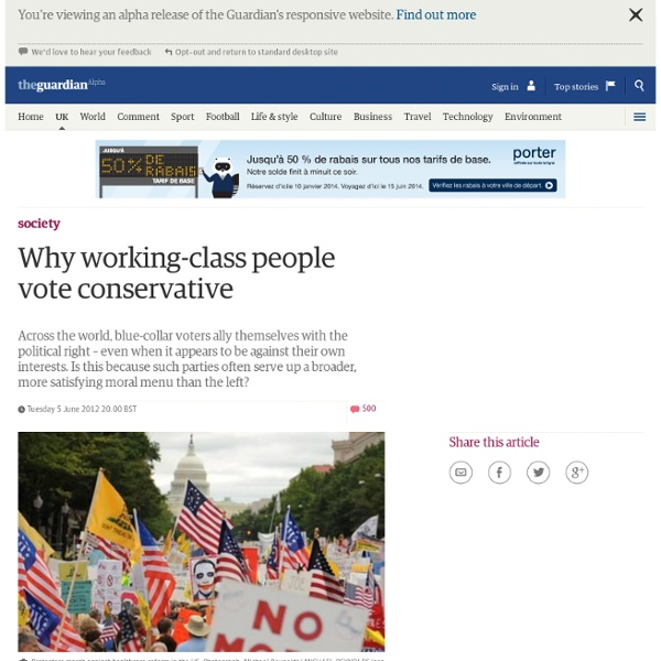 Why working-class people vote conservative