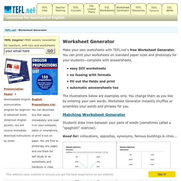 Worksheet Generator