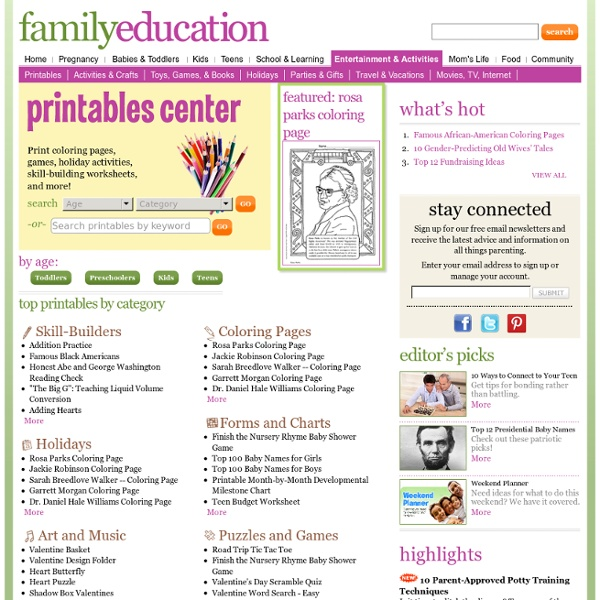 Activities - FamilyEducation.com