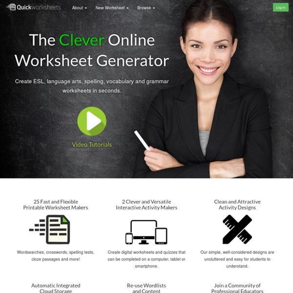 Quick Worksheets - The Online Printable Worksheet Generator