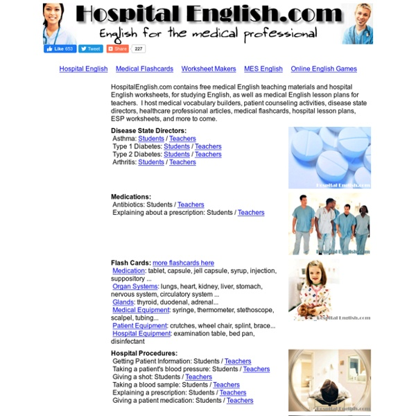 Medical English worksheets teaching resources and free printable – Worksheets for Esl Students