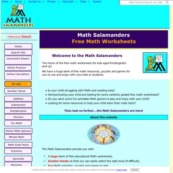 Math Worksheets Education from the Math Salamanders
