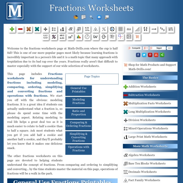 Understanding Fractions Worksheets | Pearltrees
