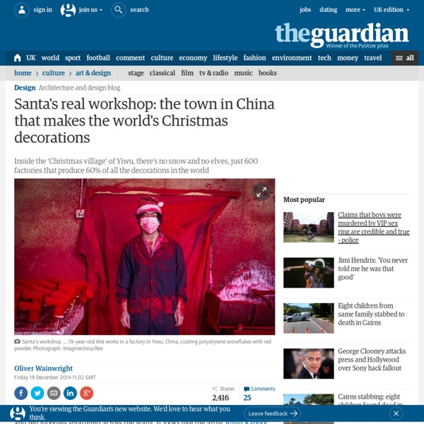 Santa's real workshop: the town in China that makes the world's Christmas decorations