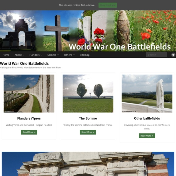 World War One Battlefields : Home Page