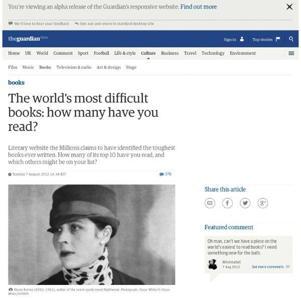 The world's most difficult books: how many have you read?