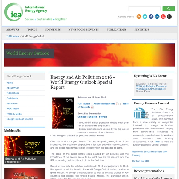 World Energy Outlook Homepage