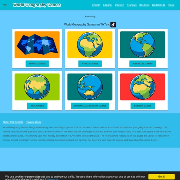 World Geography Games - Let's play and learn Geography!