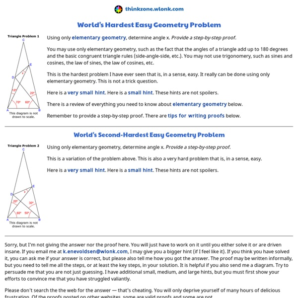 gss world s hardest easy geometry problem pearltrees gss world s hardest easy geometry problem