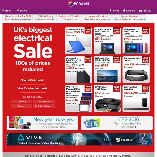Laptops, Tablets, iPads, Desktop PCs, Printers & More