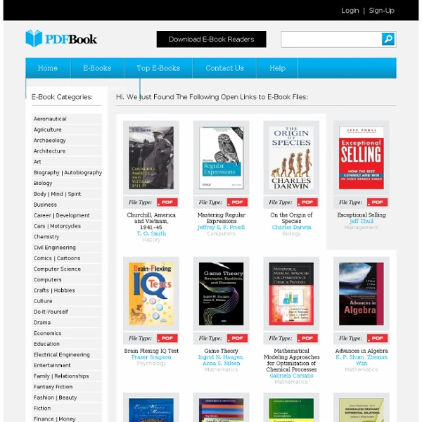 The World's Leading Source of Links to Free E-Books - All in PDF