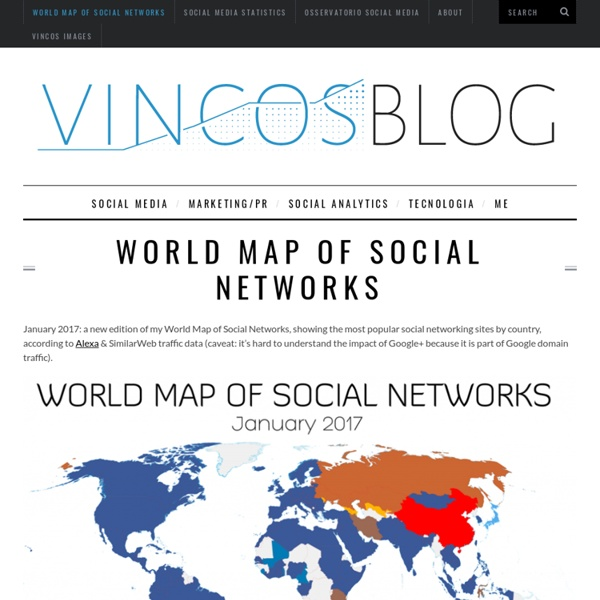 WorldMap of SocialNetworks