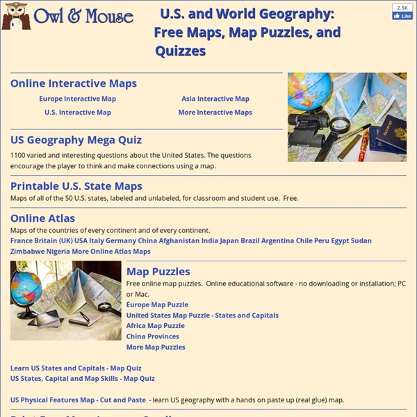 U.S. and World Maps and Puzzles - Free Maps That Teach ...