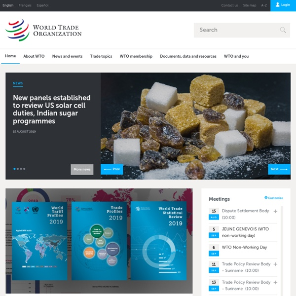 World Trade Organization - Home page
