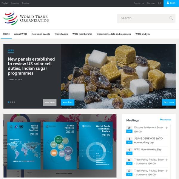 World Trade Organization - Home page
