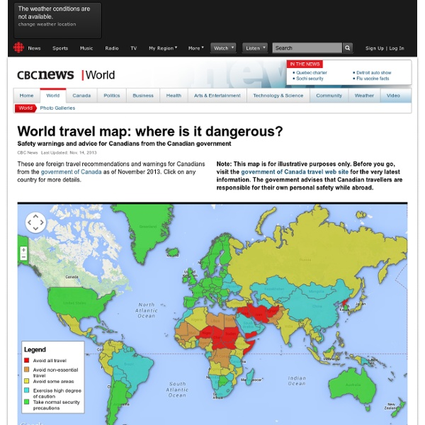 News - Dangerous travel: Countries to avoid