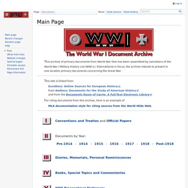 World War I Document Archive