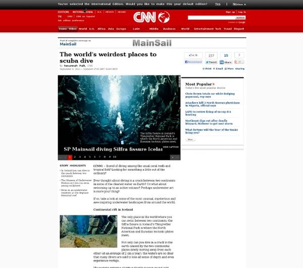 The world's weirdest places to scuba dive